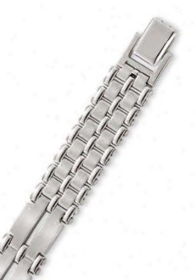 Stainless Steel 12 Mm Mens Link Bracelet - 8.25 Inch