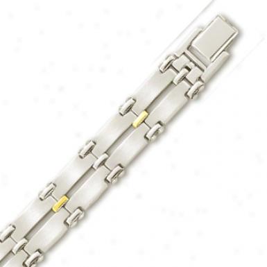 Stainlews Steel 12 Mm Mens Link Braccelet - 8.5 Inch