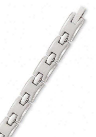 Stainless Steel 8 Mm Mens Link Bracelet - 8.5 Inch
