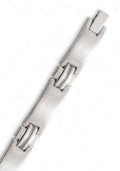 Stainless Armor 9 Mm Mens Link Bracelet - 8.25 Inch