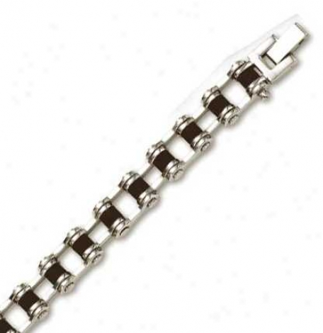 Stainleas St3el Bicycle Chain Mens Bracelet - 8.5 Inch