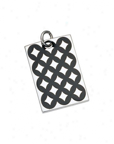 Unsullied Steel Checkers Design Pendant