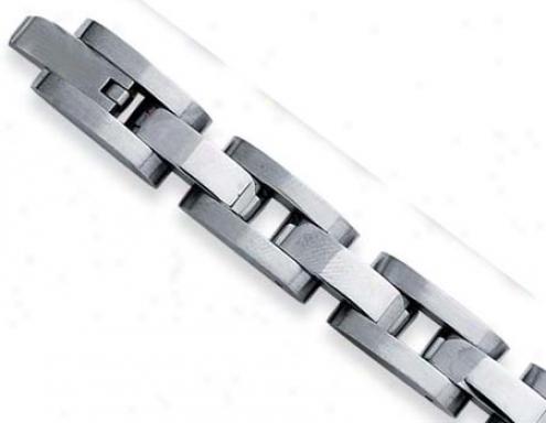 Unsullied Steel Mens Bold Link Bracelet - 8.5 Inch