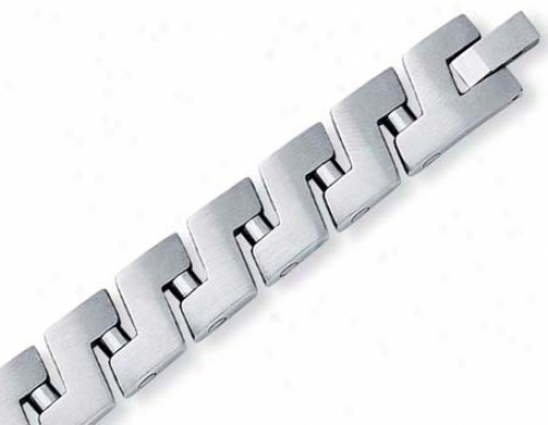Stainless Steel Mens S Link Bracelet - 8.25 Inch