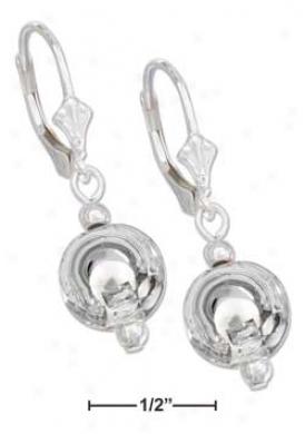 Sterling Silver 10mm Silver Ball Leverback Earrings