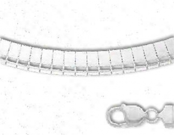 Sterling Silver 16 Inch X 6.0 Mm Omeya Necklace