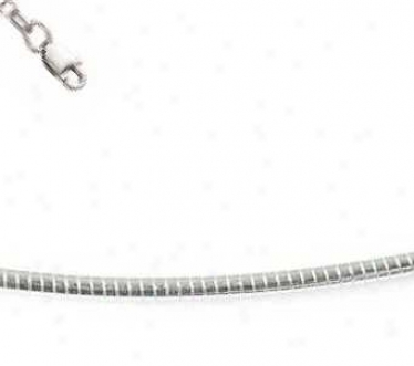 Sterling Silver 20 Inch X 1.2 Mm Round Omega Necklace