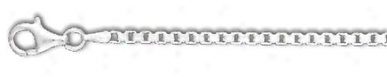 Sterling Silver 20 Inch X 2.4 Mm Box Chain Necklace