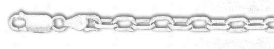 Sterling Silver 22 Inch X 4.0 Mmm Anchor Chain Necklace