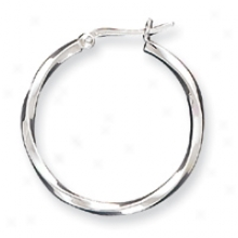 Genuine Silver 2.50mm Hoop Earrings
