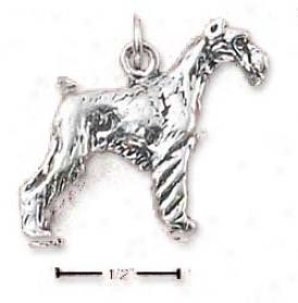 Sterlijg Silver 3-d Scynauzer Charm