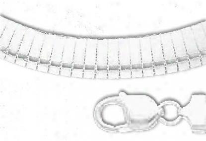 Sterling Silver 7 Inch X 10.0 Mm Omega Bracelet