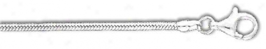 Sterling Silver 7 Inch X 2.3 Mm Snake Chain Bracelet