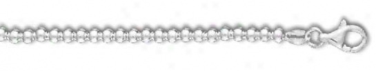 Sterling Silver 7 InchX  3.0 Mm Ball Chain Bracelet