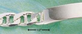 Sterling Silver 8 Inch Marina Id Bracelet
