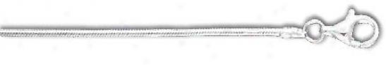 Sterling Silver 8 Inch X 1.7 Mm Snake Chain Bracelet