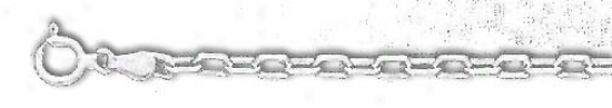 Sterling Silver 8 Inch X 3.0 Mm Anchor Chain Bracelet