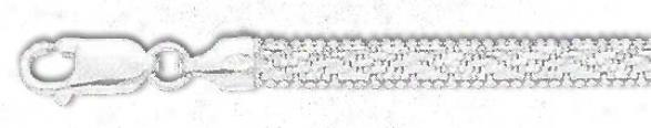Sterling Gentle 8 Inch X 4.5 Mm Riccio Bracelet