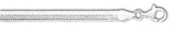 Syerling Silved 8 Inch X 5.0 Mm Herrinybone Bracelet