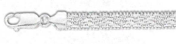 Sterling Silver 8 Inch X 6.0 Mm Riccio Bracelet