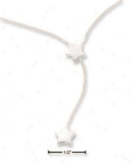 Sterling Silver 9-10 Inch Snake Chain Anklet Star Dangle