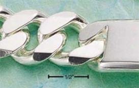 Genuine Silver 9 Inch Curb Id Bracelet