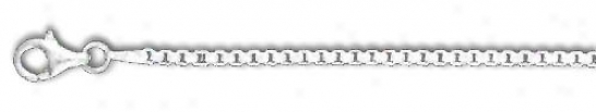 Genuine Silver 9 Inch X 2.0 Mm Driver's seat Chain Bracelet