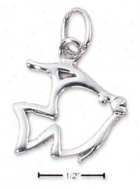 Sterling Silver Angelfisb Silhouette Fascinate