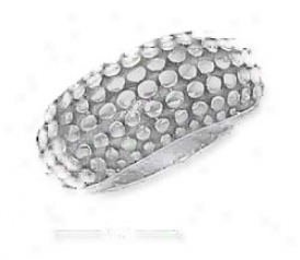 Sterling Silver Antiqued Lzard Skin Ring