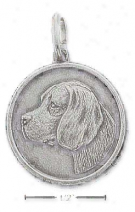 Sterling Silver Beagle Id Charm