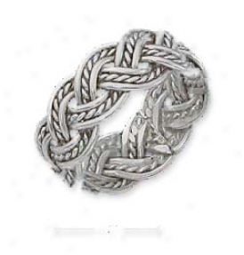 Sterling Silver Braided Rope Race-course