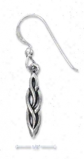 Genuine Silver Celtic Twist Earrings (nickel Free)