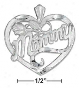 Sterling Silver Dc Mommy In Heart Charm