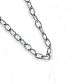 Sterling Silver Designer Cable Link Necklace