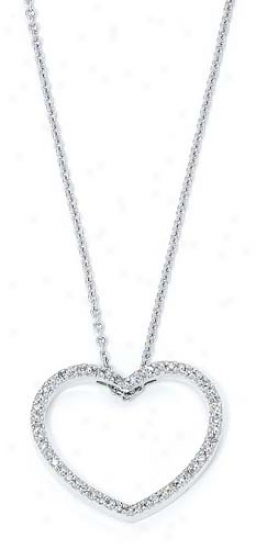 Sterling Silver Rhombus Heart Necklace