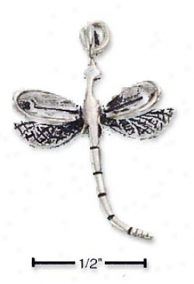 Sterling White Dragon Fly Charm