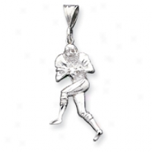 Sterling Silver Football Player Pendant