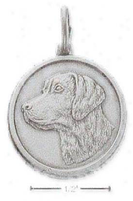 Sterling Silver Labrador Retriever Id Charm