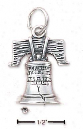 Sterling Silver Liberty Bell Fascinate (hollow Again)