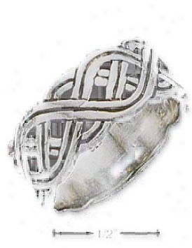 Stterling Silver Mens Celtic Band Ring