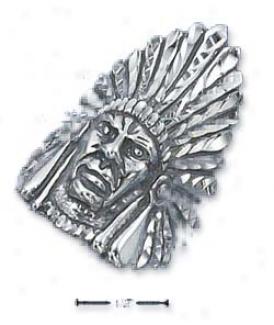 Sterling Silver Mens Diamond Cut Full Get  Head Ring