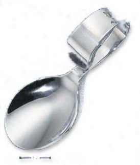 Sterling Silver Plain Baby Finger Spoon