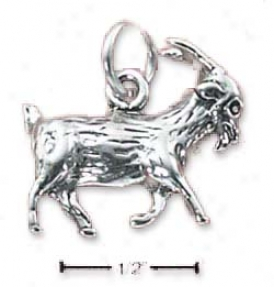 Sterling Silver Prancing Billy Goat Charm
