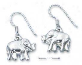 Sterling Silver Puffed Elephant Fawn Earrings