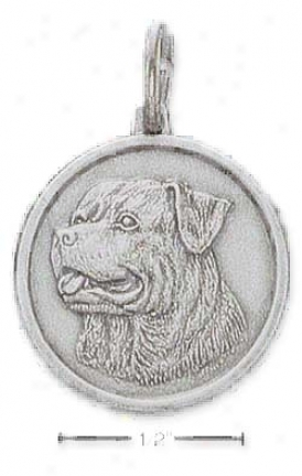 Sterling Silver Rottweiler Id Charm