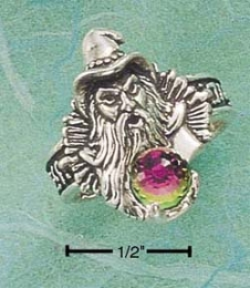 Sterling Gentle Small Wizard Ring With Austrian Ball