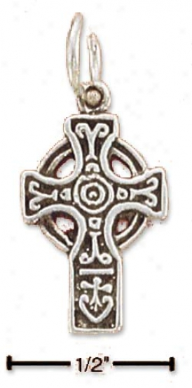 Sterling Silver Tiny Celtic Cross Pendant