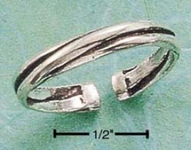 Sterling Silver Triple Band Ring Thumb Ring