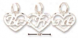Sterling Silver Triple Best Friends Charm