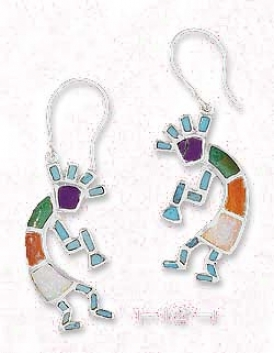Sterling Silver Turquoise Kokopeili Earrings
